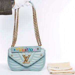 Auth LOUIS VUITTON New Wave PM Chain Shoulder Bag